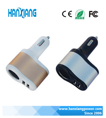 New Style Micro USB charger 3.1A Dual USB Car Charger, High Quality Car Phone Holder For Samsung Galaxy S5