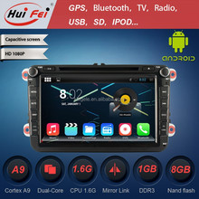 Huifei Android 4.4.2 Touch Screen Car Radio Gps For Vw Golf 6 Tiguan Capacitive Touch Screen 1024*600 Resolution