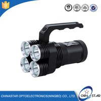4 PCS CREE XM-L T6 High Power Aluminium rechargeable flashlight 220v