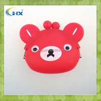Lovely candy color Animal mini silicone coin wallet