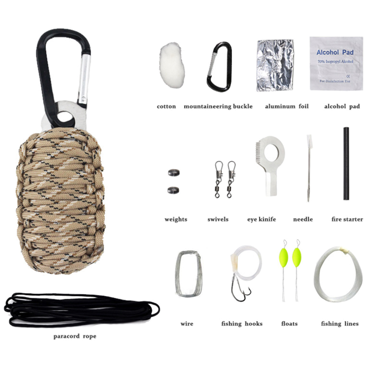 Outdoor travel climbing hiking safety emergency tactical kits multipurpose pocket survival tool