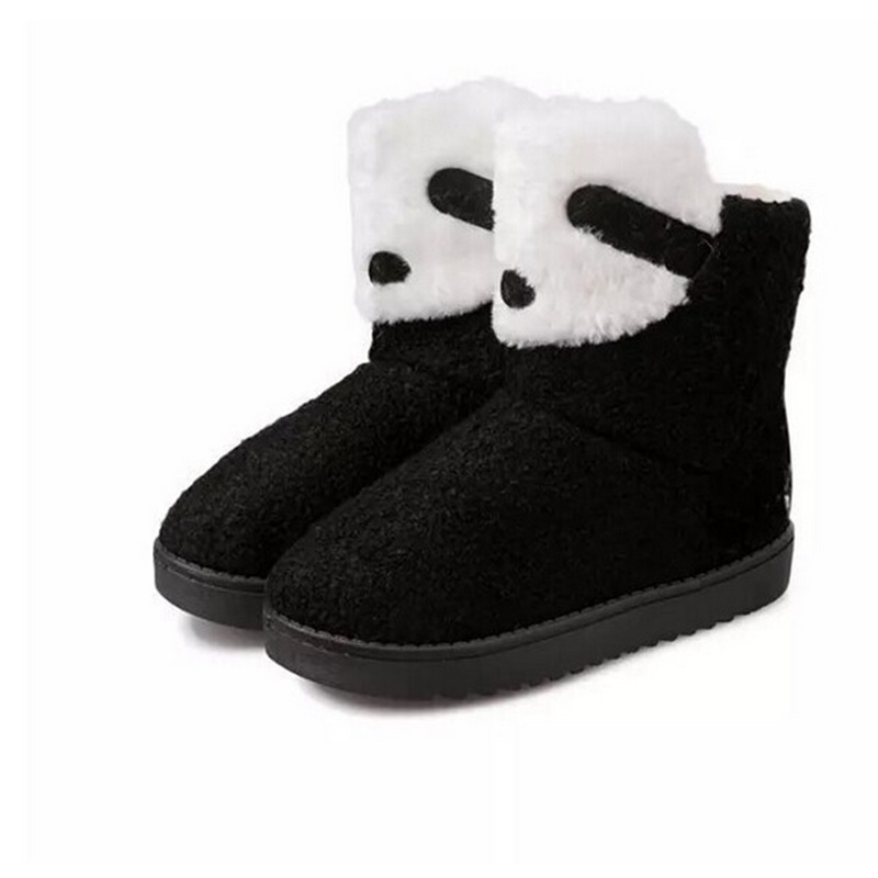 2015 Winter New Fashion Women Winter Boots Warm Snow Boots Cartoon Shoes Short Boots Cute Flat Korean style Boots