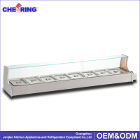Counter Top Stainless Steel Pizza table / Pizza table ( 8pans ) in kitchen Restaurant