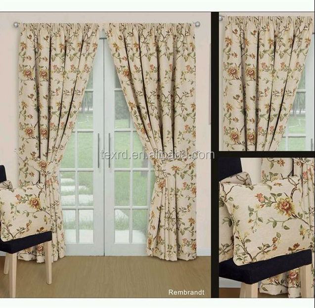 Fancy 100% Polyester Jacquard Window Curtain