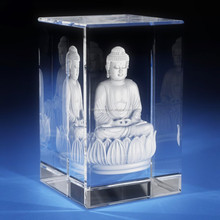 Buddha 3D Crystal photo for souvenir