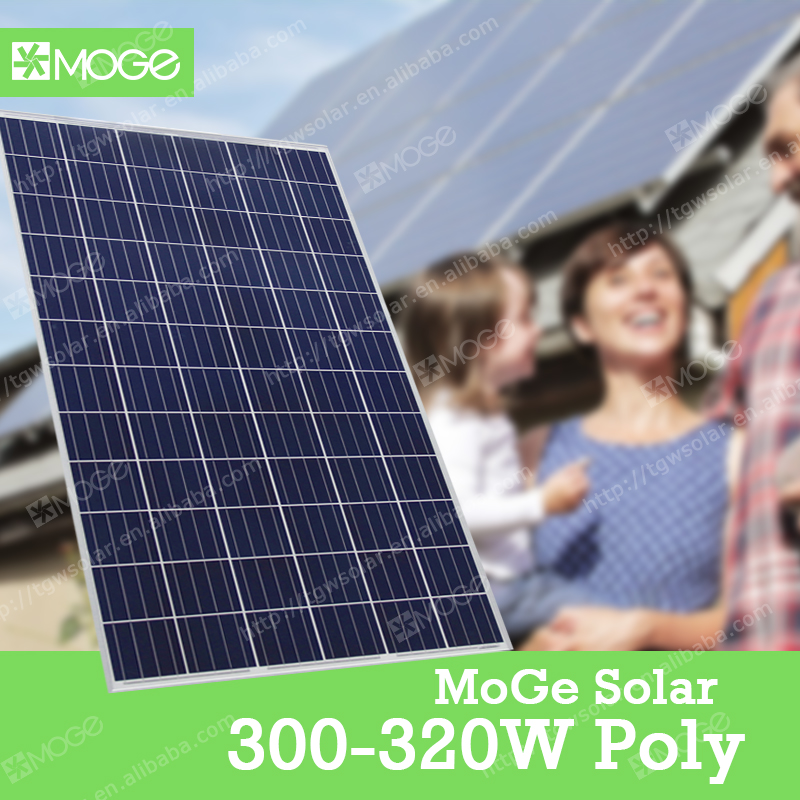 Moge best wholesale 4BB 300 305 310 315 320 watt photovoltaic solar panel with high quality