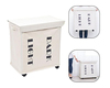 High Quality Durable 600D Oxford Laundry Hamper 2 Compartment Clothes Storage Dark Light Laundry Basket With Wheels Beige