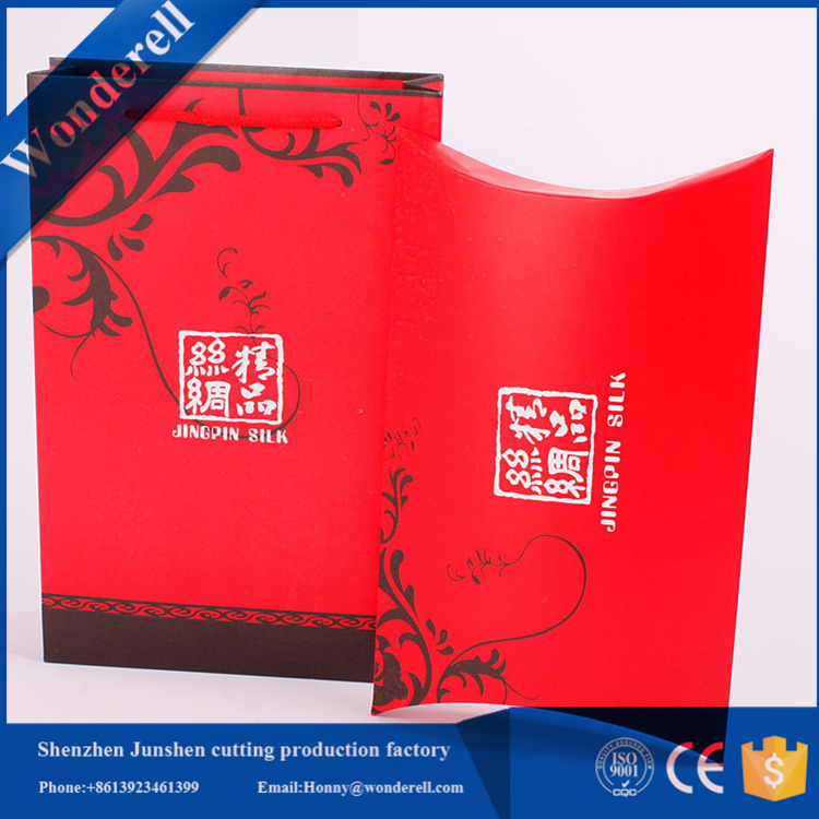 custom full color printing card pillow box packaging manufacturer