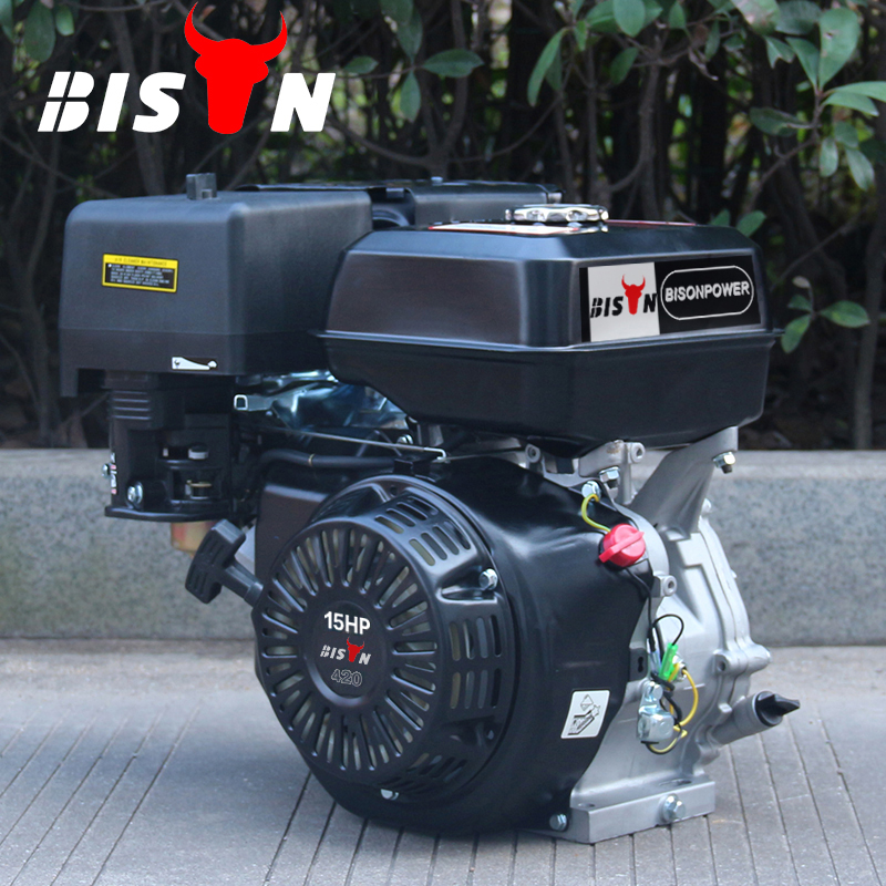 BISON(CHINA) High Power BS190F Air Cooled 4 Stroke Single Cylinder OHV Structure 420cc Gasoline Engine 15 HP