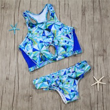 transparent tankini fancy bikini set