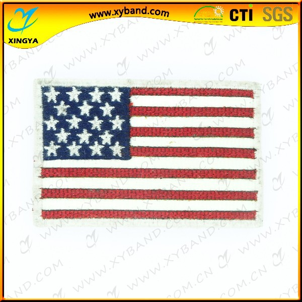 High quality fasion woven flag badges