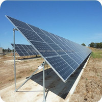 Aluminum solar panel mounting system for ground installation