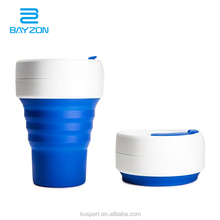 BPA free Silicone folding coffee cup