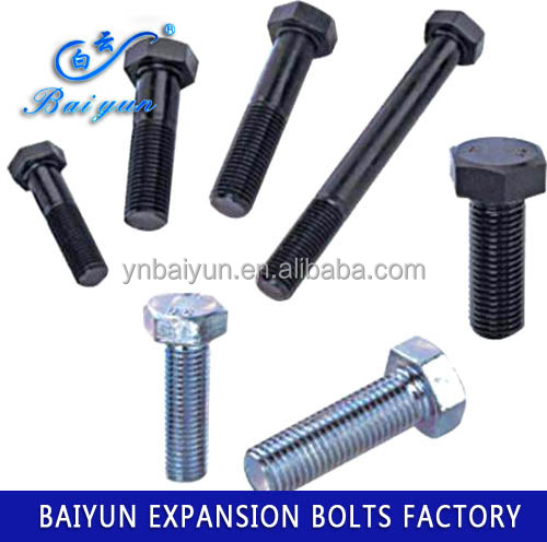 high quality steel hot galvanized hex bolt m30 hex bolt