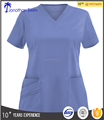 2017 fashion neck design with the most popular colorful hospital scrub uniform