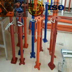 1800-3100 adjustable construction steel shoring props/scaffolding material BS035