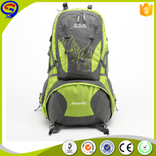OEM water resistant travel bag, hiking backpack, camping hiking backpack brand with rain cover