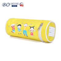DONGGUAN BOSHINE Hot selling Wholesale BSCI directly factory waterproof Canvas pencil bags cartoon bags Gift for kids