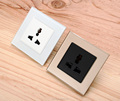 Tempered Crystal Glass Elegant Wall electrical Plug Socket