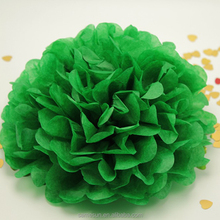 Hanging Green Tissue Paper Artificial Flower Ball For Party Decoration
