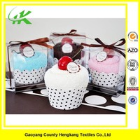 Good Quality Cotton Gift Birthday Towel Cake In Many Colours