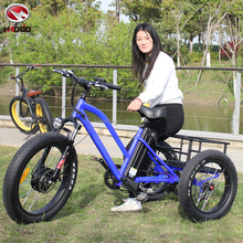 Full Alloy Frame Front 24 inch Adults Three Wheel Electric Tricycle