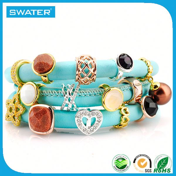 Promotional Gifts 2016 Quartz Gemstone Top Charm Bracelet Brands