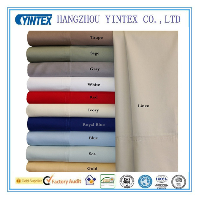 Wholesale 300TC Bamboo Cotton Blend Bed Sheet