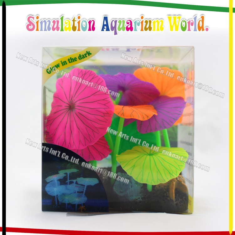 Beautiful Artificial Lotus Flower Plastic Aquarium Plants
