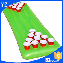 High quality inflatable beer pong float pool inflatable beer pong table with cooler folding portable inflatable mattress raft