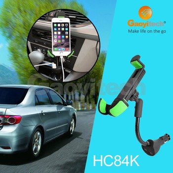 China factory for car charger holder with dual usb suitable for 4-6.3 inch
