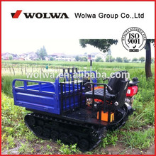 Diesel crawler track carrier dump truck with load 1000kg