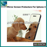 Manufacturer! Silver Blue Mirror Screen Protectors For Iphone 4