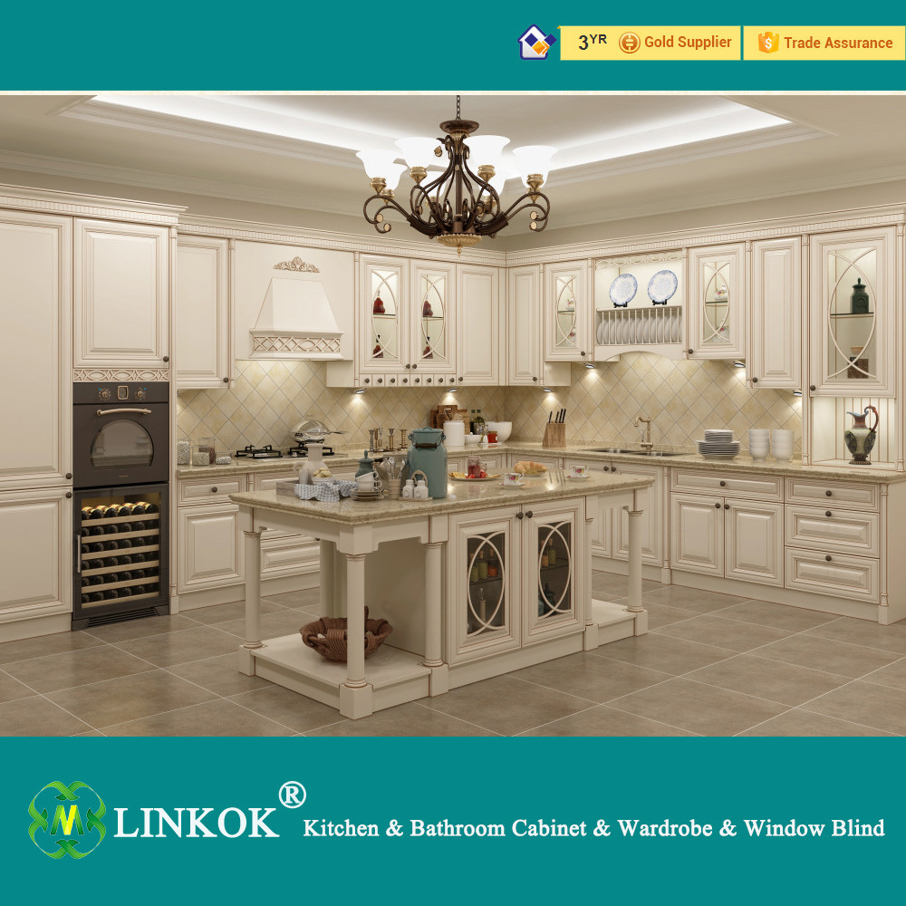 European style elegant white kitchen cabinet import modern kitchen cabinets from china