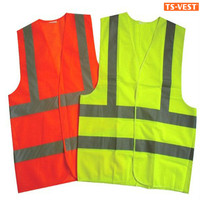 Security Protection Cycling EN20471 High Visibility Yellow Reflective Safety Vest