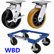 WBD Heavy duty auto car dolly casters and wheels