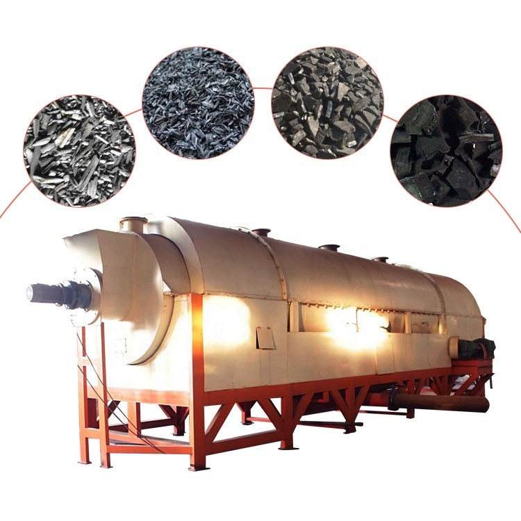 Factory supply rotary kiln for activated carbon charcoal making machinery