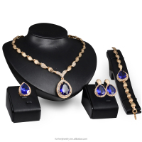 Fashion 4Pcs Costume Wedding Jewellery Sets 18K Gold Plated African Fine Jewelry Set with Austrian Crystal SKJT0343