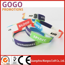 high quality segment colors silicone hand band with company brand, the best gifts hot sales promotional silicone band