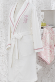 ECO-COTON ORGANIC FLEUR ROBE Wrap Dress Sleep Wear Pajamas Suit bath robe