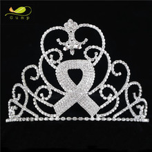 Wholesale Ribbon Style Crystal Pageant Crown Rhinestone Tiara