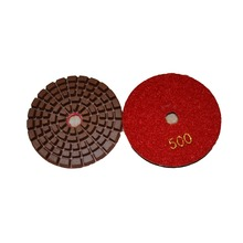 Hybrid flexible wet resin concrete polishing pad for floor