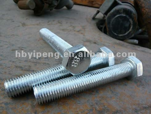 Hardware Fasteners Full Thread Hex Bolt DIN933