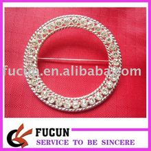 Wholesale Clear Rhinestone Buckle round For Wedding Invitation Diamante Ribbon Sliders