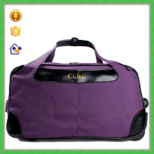 YTF-P-LXB024 Purple PU Hand Wheels Trolley Travel Bag