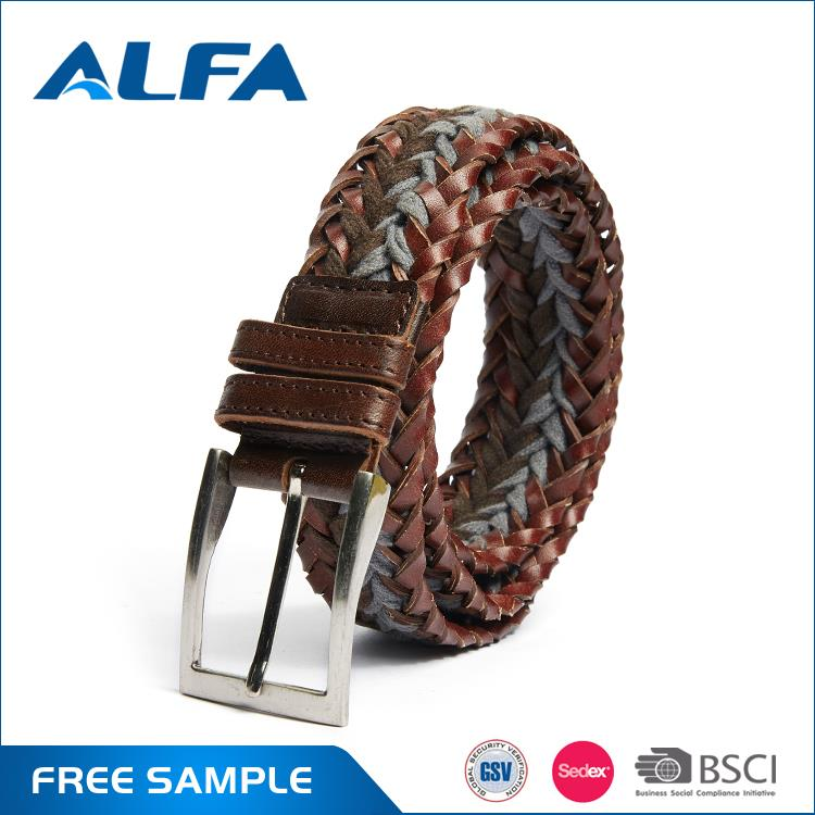 Alfa Trending Hot Products Machine Braided Leather Belt