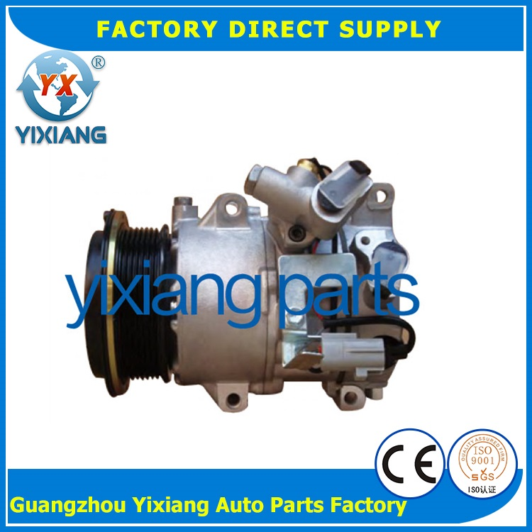 Auto 110MM 7PK Pulley Clutch Compressor, 4472600975 AC 6SEU16C Compressor For HIACE