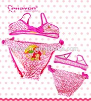 OEM &ODM cute bow young girls swimwear bikini suit