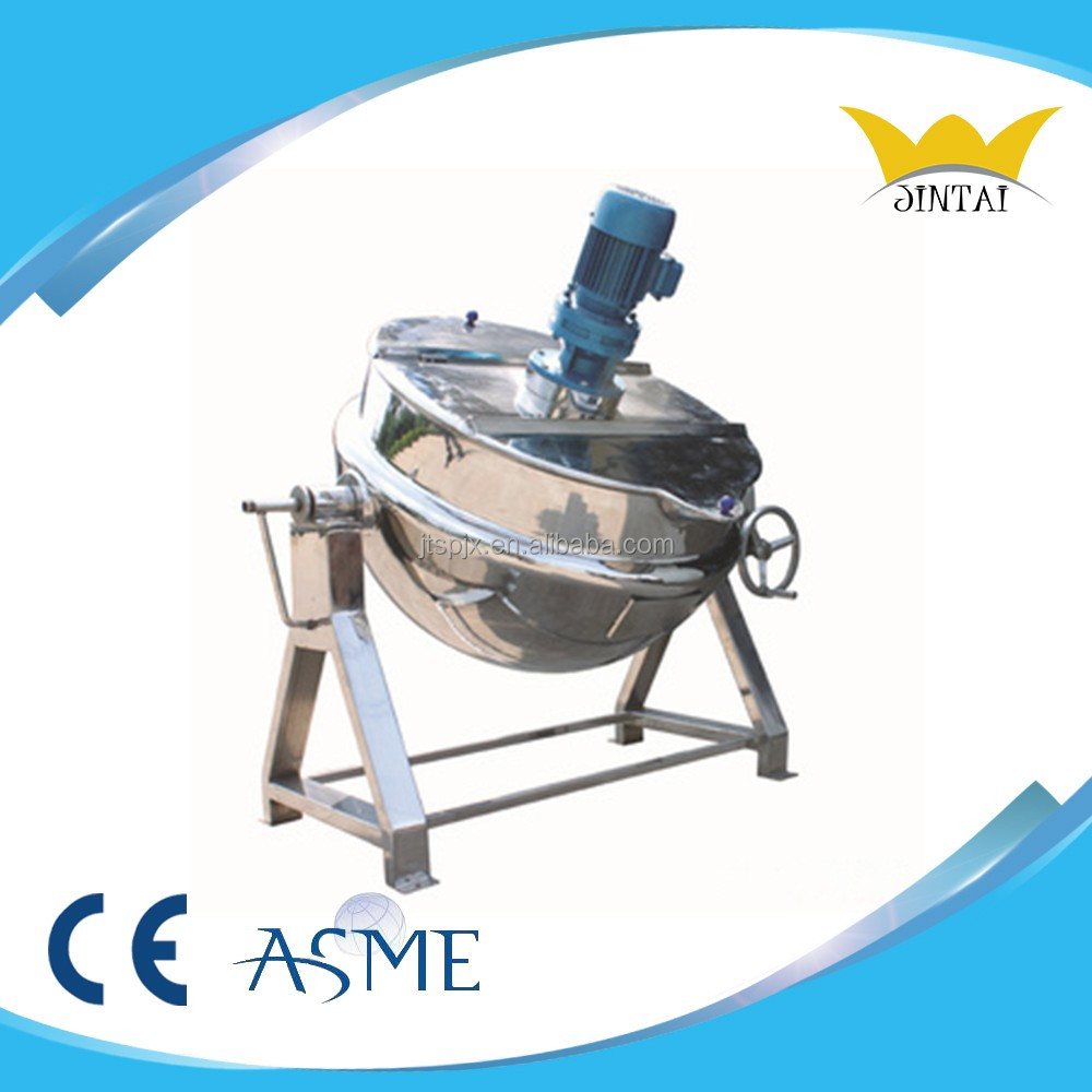 Cooking Pot Steam Jacketed Kettle Tilting