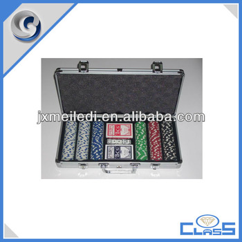 2015 promotion 300 poker chip set with silver case